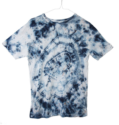 Hand dyed, tie dye, dip dyed, bamboo tshirt, t shirt, t-shirt, fair trade, fair wear, eco friendly, sustainable, agate rock
