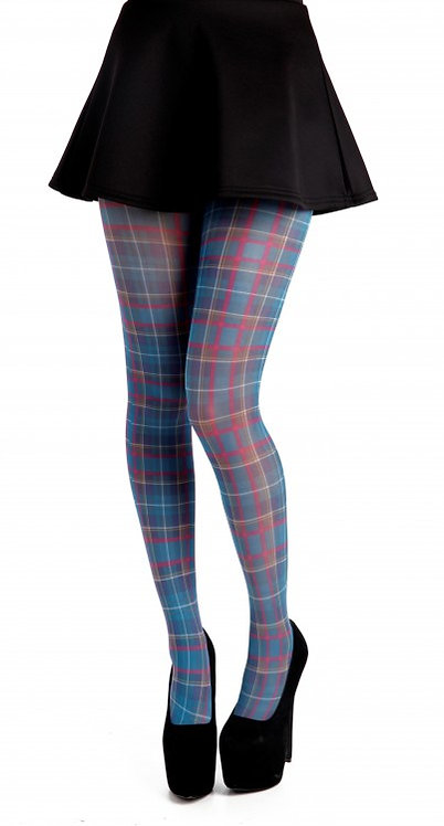 Tights, hosiery, stockings, socks, pantyhose, colourful, print, printed, festival, glastonbury, coachella, tartan, plaid