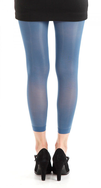 Denim Blue Pamela Mann Footless tights, opaque leggings, pantyhose, halloween, cosplay cos play, costume fancy dress.