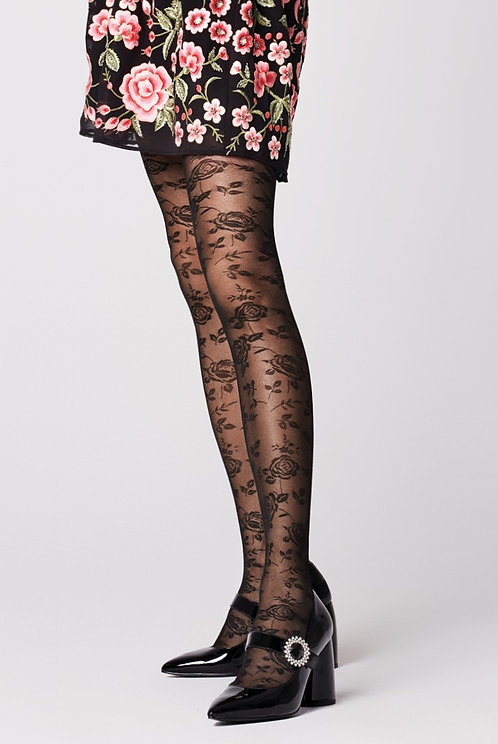 seam, floral, flower, pattern, lace, 30 denier, sheer, transparent, tights, hosiery, fiore, femmes, feminine, pretty delicate