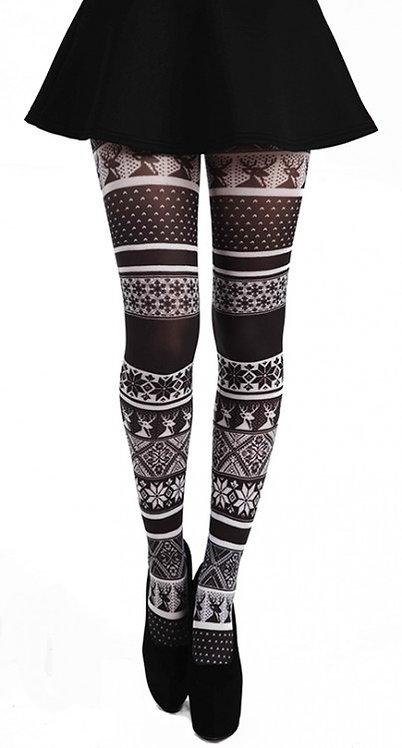 Tights, hosiery, stockings, socks, pantyhose, 40 denier, colourful, print, printed, festival, glastonbury, coachella,