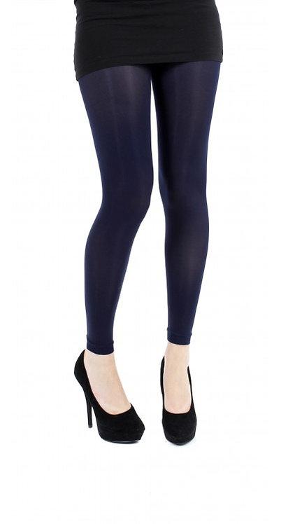 Navy Blue Pamela Mann Footless tights, opaque leggings, pantyhose, halloween, cosplay cos play, costume fancy dress.