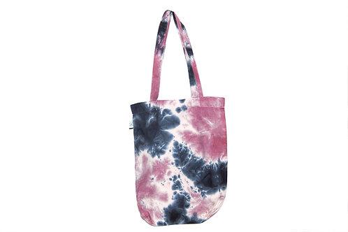 Bag for life, tote bag, organic cotton, fair trade, hand dyed, dip dye, tie dye, ombre, earth positive, eco friendly shopper