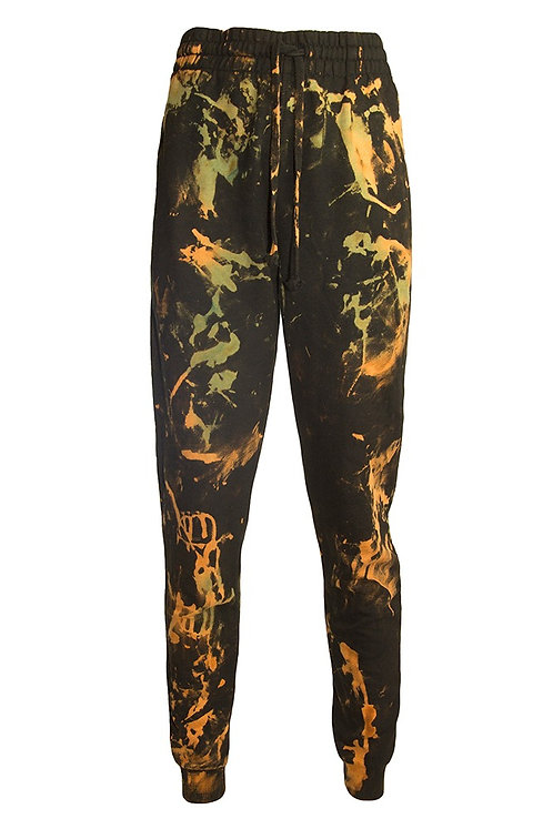 Dropped Crotch Hand dyed acid wash Tracksuit bottoms Joggers Jogging trousers