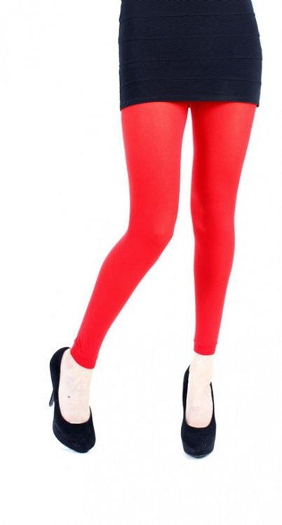 Red Pamela Mann Footless tights, opaque leggings, pantyhose, halloween, cosplay cos play, costume fancy dress.