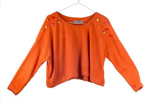 Bobble Cropped Sweatshirt