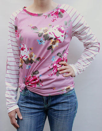 Kerry - Pink Stripe Top