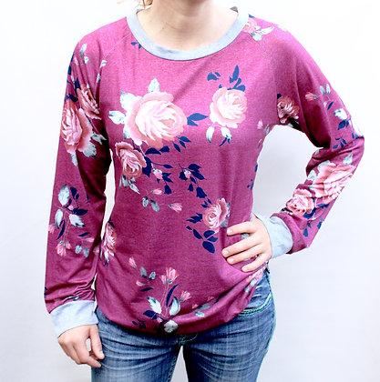 Julie - Maroon Floral
