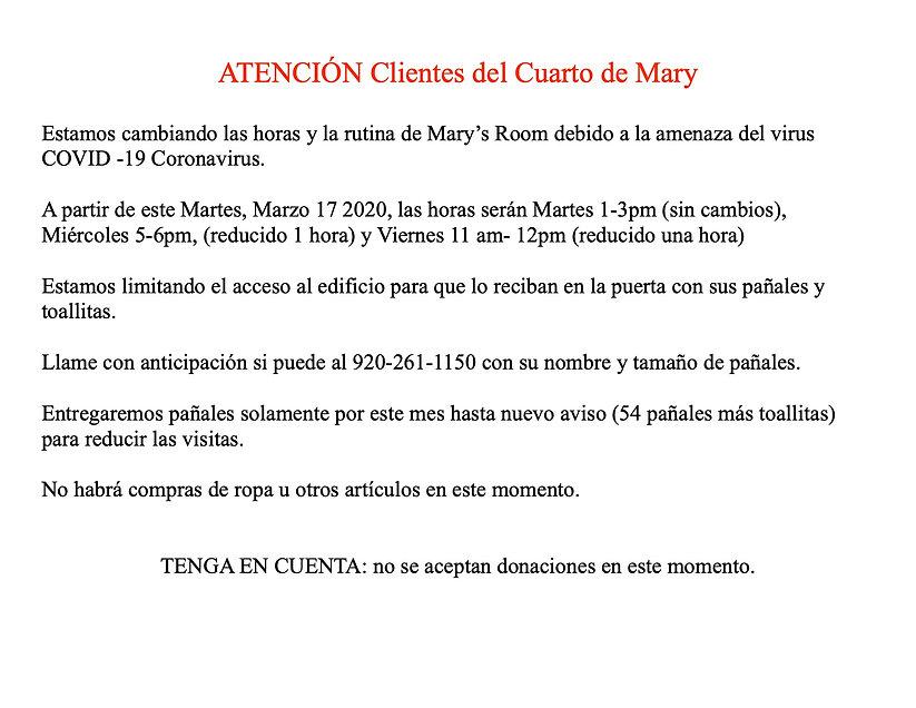Mary's Room Annoucement SPANISH JPEG.jpg
