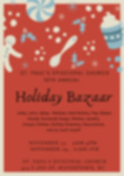 Red Illustration Holiday Personal Poster