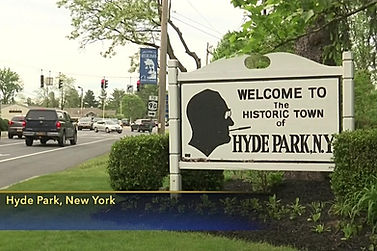 Welcome Sign to Hyde Park