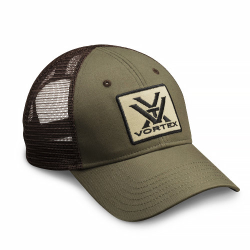 Vortex Green and Brown Mesh Cap