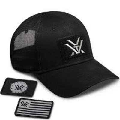 Vortex Black Patch Hat | With x2 Free Velcro Patches
