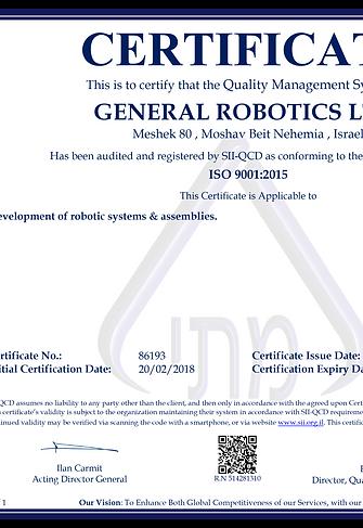 ISO general robotics