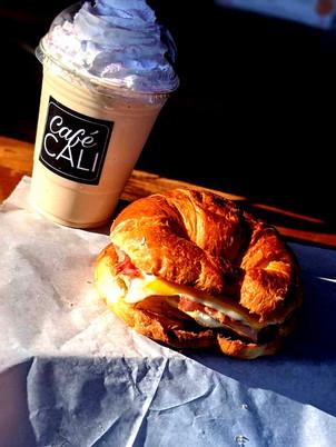 Peppermint Frappe & Breakfast Croissant