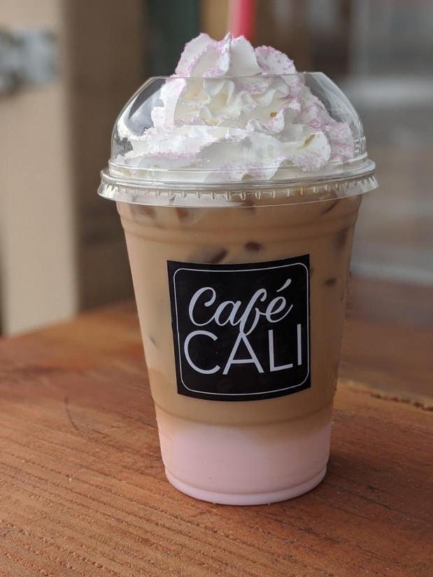 Raspberry Iced Latte