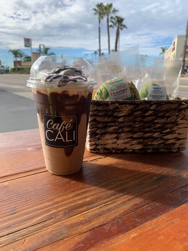 Chocolate Peanut-Butter Frapp & Cravory Cookies
