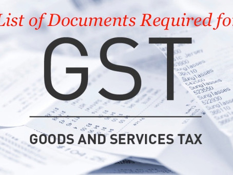 Documents required for the GST Registration -