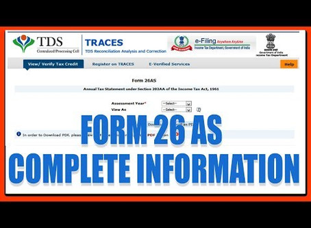 New and Detailed Form 26AS :