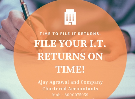 Time to File Income Tax Return FY 2019-2020
