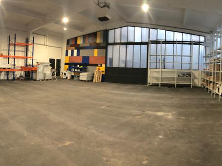 Unsere neue Lagerhalle!