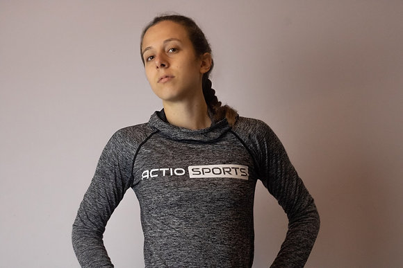 Women's Seamless Sport Hoody - Grey