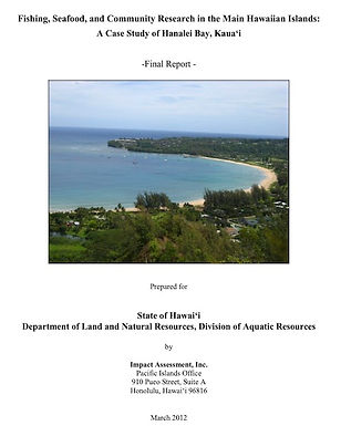 Fishing, Seafood, and Community Research in the Main Hawaiian Islands: A Case Study of Hanalei Bay, Kaua'i