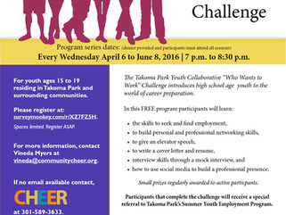 "FREE Youth Development Program: ""Who Wants to Work"" Challenge -- REGISTER NOW!"