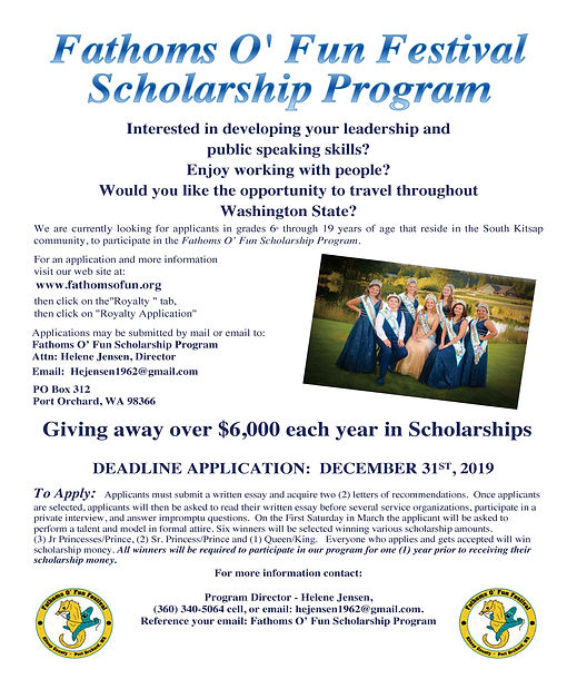 Fathoms O Fun Scholarship Information-re