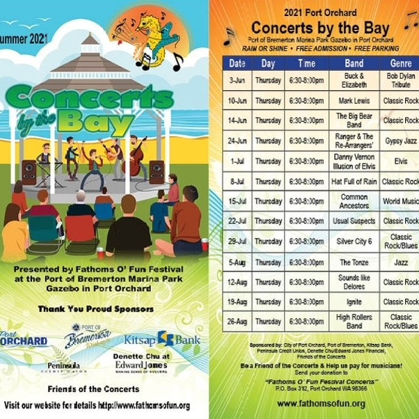 Summer 2021 Concerts by the Bay