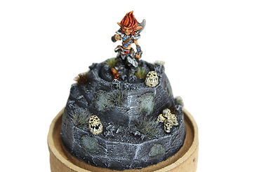 Dungeons and dreagons miniature. Deze miniature is laten schilderen door Pink Orc Studios