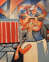 Blue Eyed Women (20x16)