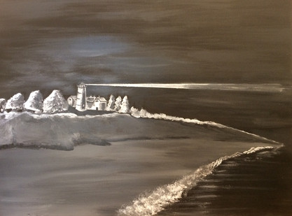 Chatham Light In Black and White (18x24)
