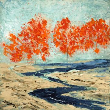 Birch Trees #7 (36x36)