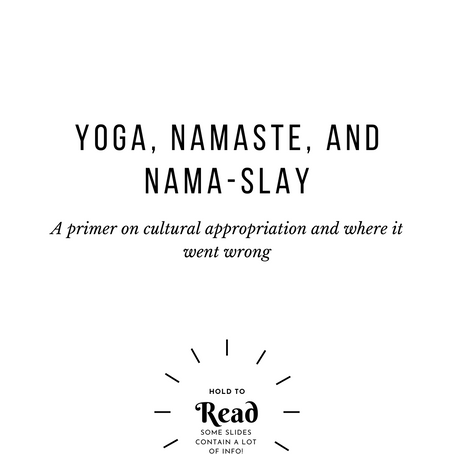 Cultural Appropriation of Yoga and Namaste