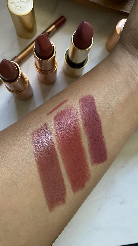 Lipstick swatches on dark skin luxury lipstick
