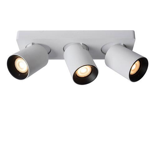 NIGEL - Ceiling spotlight - LED Dim to warm - GU10 - 3x5W 2200K/3000K - White