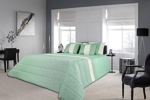 Colcha em tecido Jacquard com veludo Ref.ª Porto  Cor: Verde