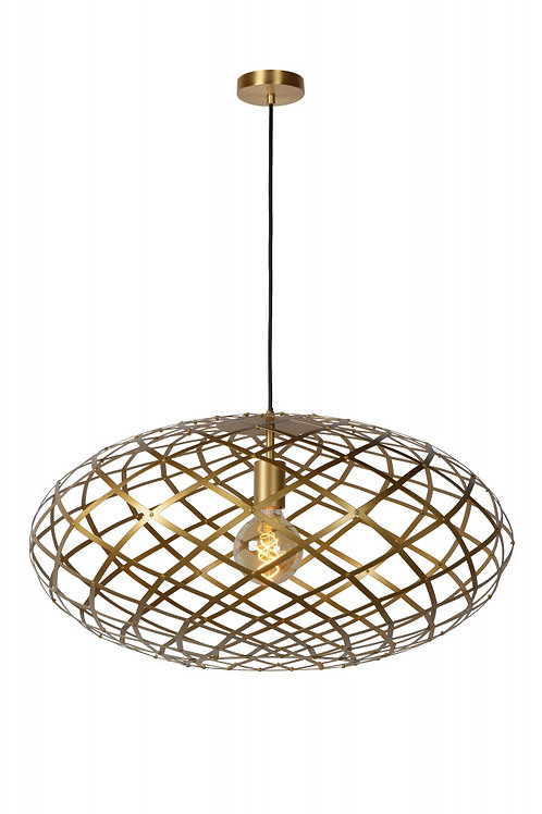WOLFRAM - Pendant light - Ø 65 cm - 1xE27 - Matt Gold / Brass