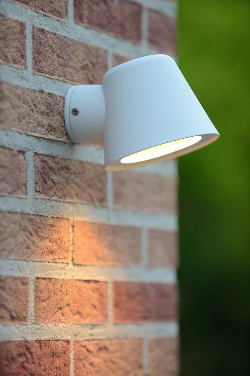 DINGO-LED - Wall light Outdoor - LED Dim. - GU10 - 1x5W 3000K - IP44 - White