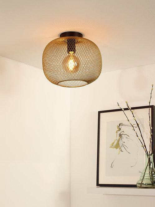 MESH - Flush ceiling light - Ø 30 cm - 1xE27 - Matt Gold / Brass
