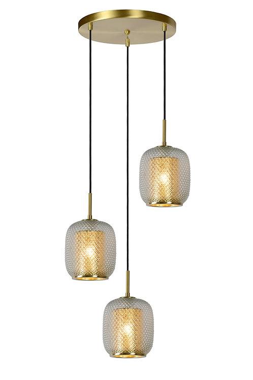 AGATHA - Pendant light - Ø 35 cm - 3xE27 - Matt Gold / Brass