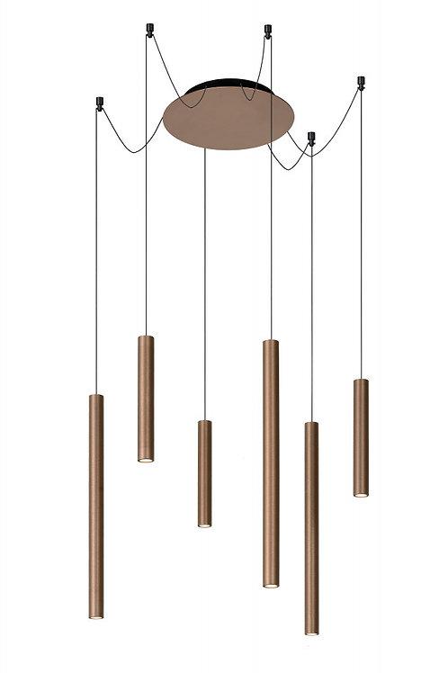 LORENZ - Pendant light - LED Dim. - 6x4W 3000K - Rust Brown
