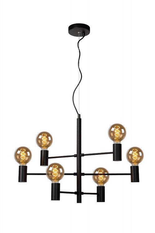 LEANNE - Pendant light - 6xE27 - Black