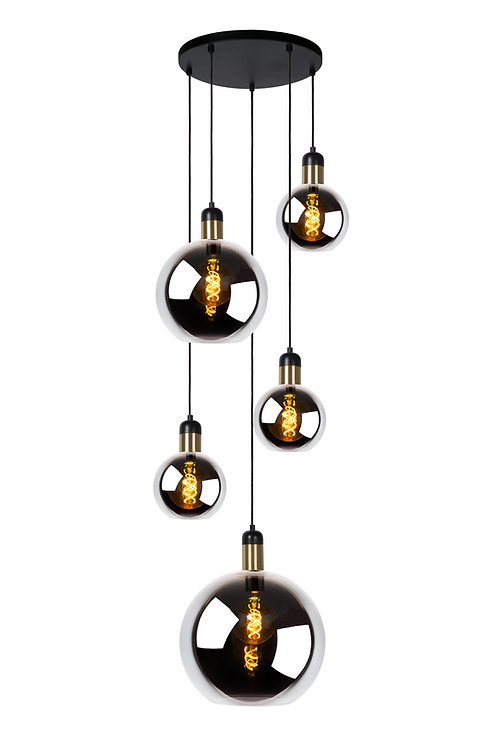 JULIUS - Pendant light - 5xE27 - Smoke Grey