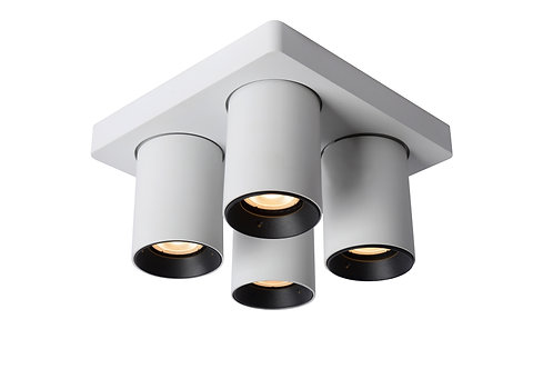 NIGEL - Ceiling spotlight - LED Dim to warm - GU10 - 4x5W 2200K/3000K - White