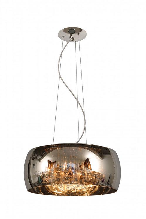 PEARL - Pendant light - Ø 50 cm - 6xG9 - Chrome