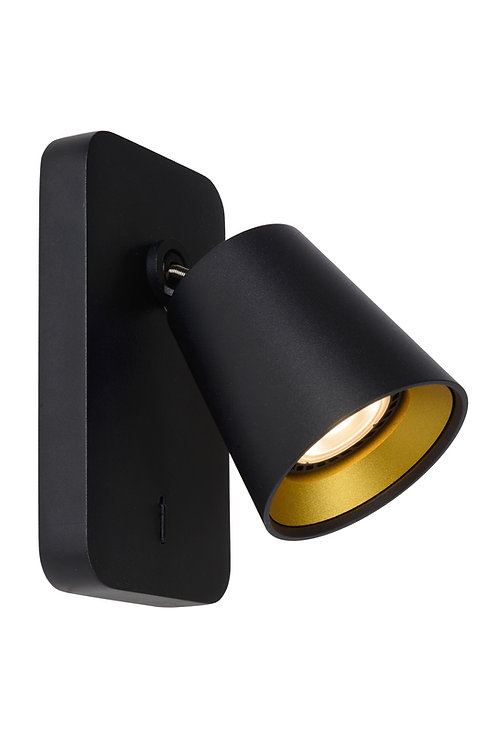 TURNON - Wall spotlight - LED Dim to warm - GU10 - 1x5W 2200K/3000K - Black