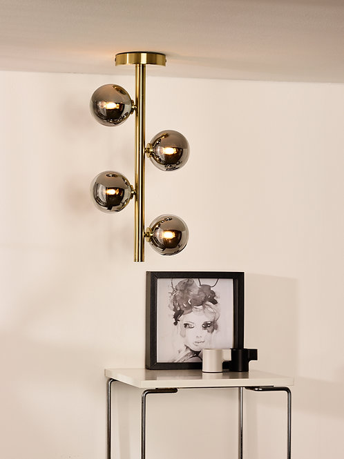 TYCHO - Flush ceiling light - Ø 22,5 cm - 4xG9 - Matt Gold / Brass