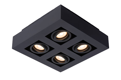 XIRAX - Ceiling spotlight - LED Dim to warm - GU10 - 4x5W 2200K/3000K - Black